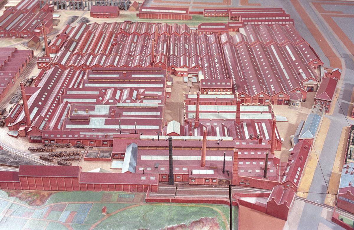 Le plan-relief du Familistère donne une description fidèle de l'usine.