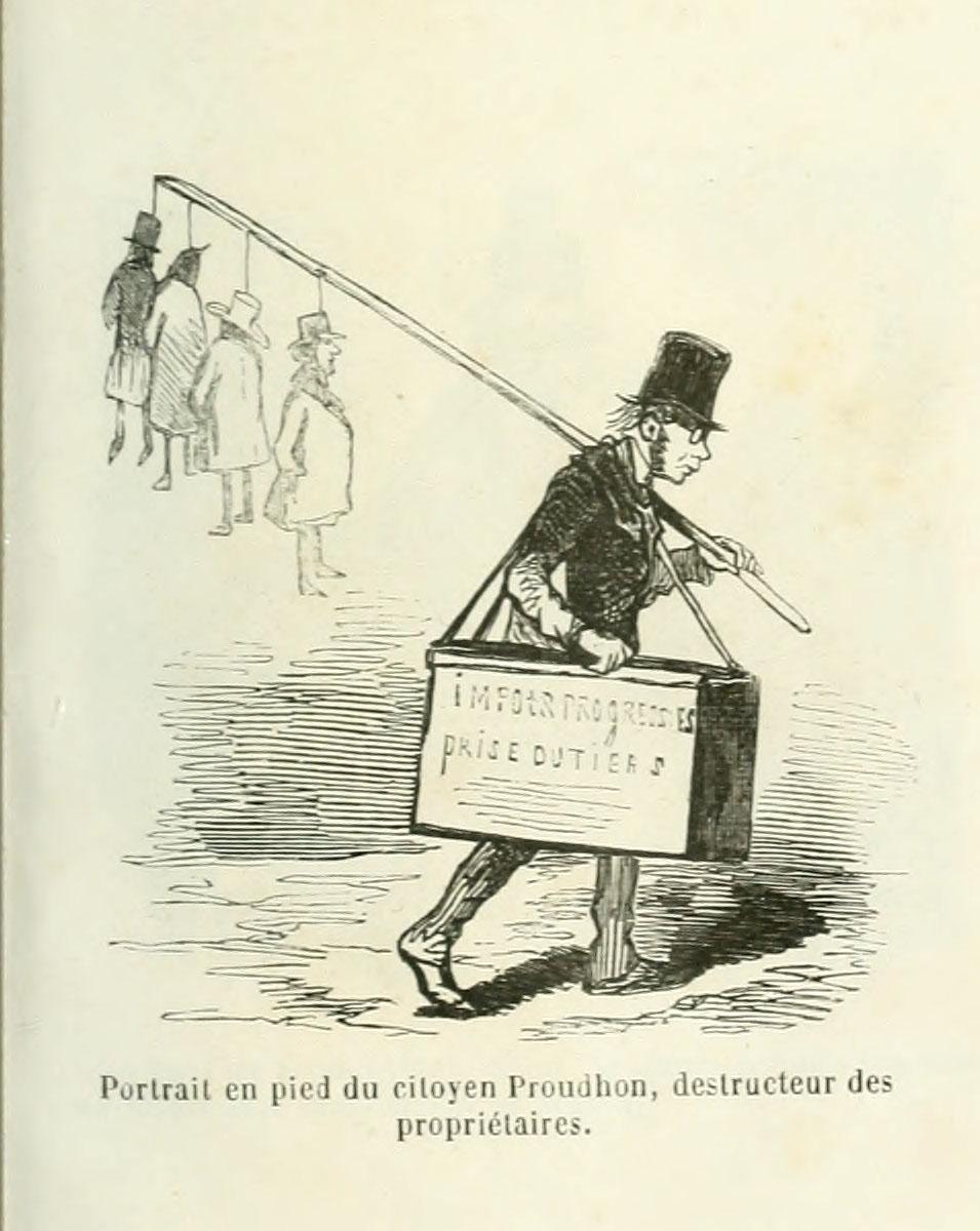 Proudhon est caricaturé en dératiseur.