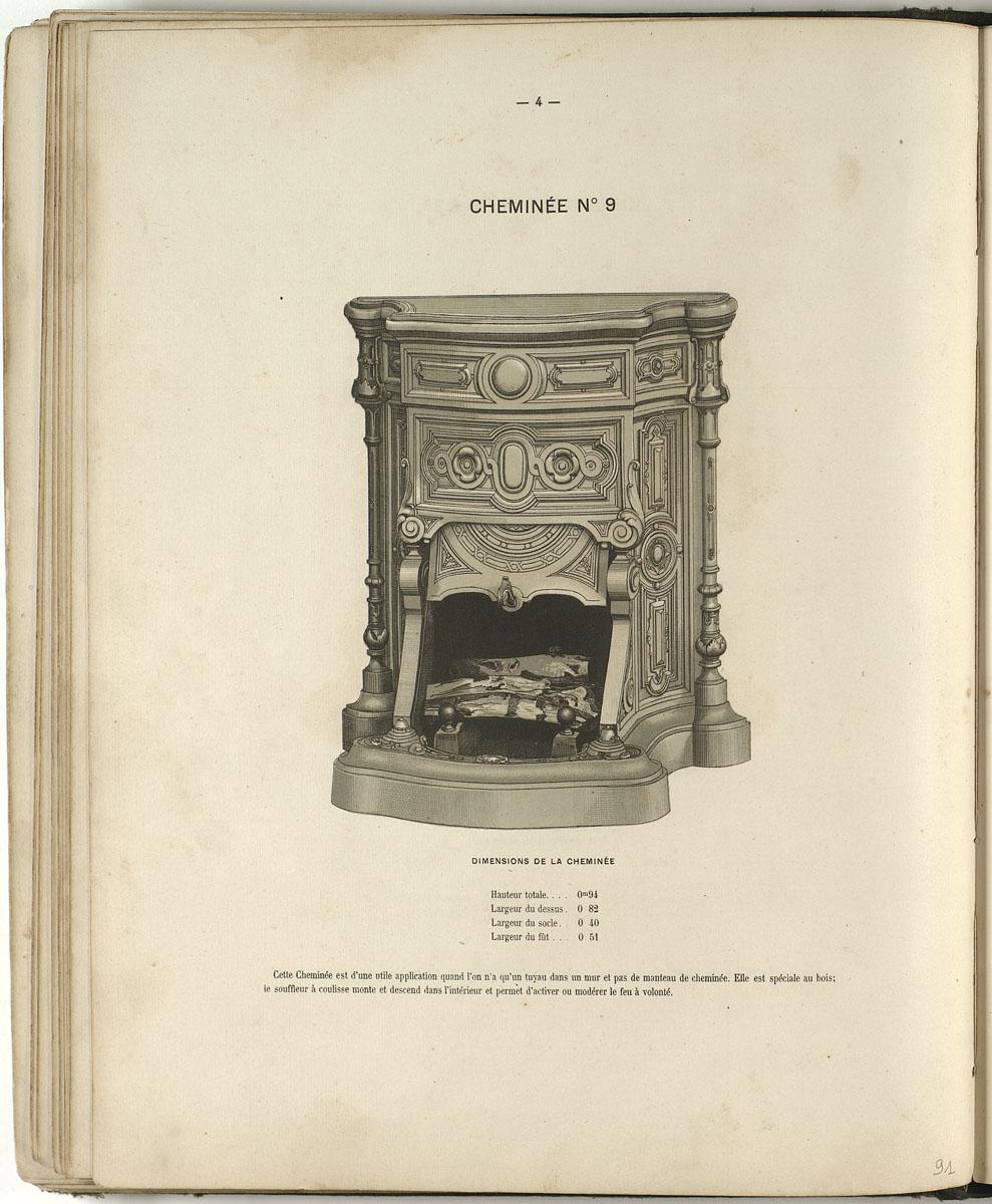 L'album des productions Godin-Lemaire de 1867 présente une lithographie représen