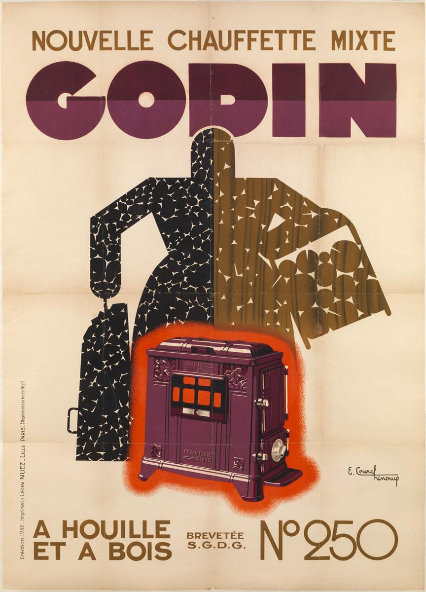 L'affiche montre une figure mi-bois mi-charbon se tenant derrière une Chauffette