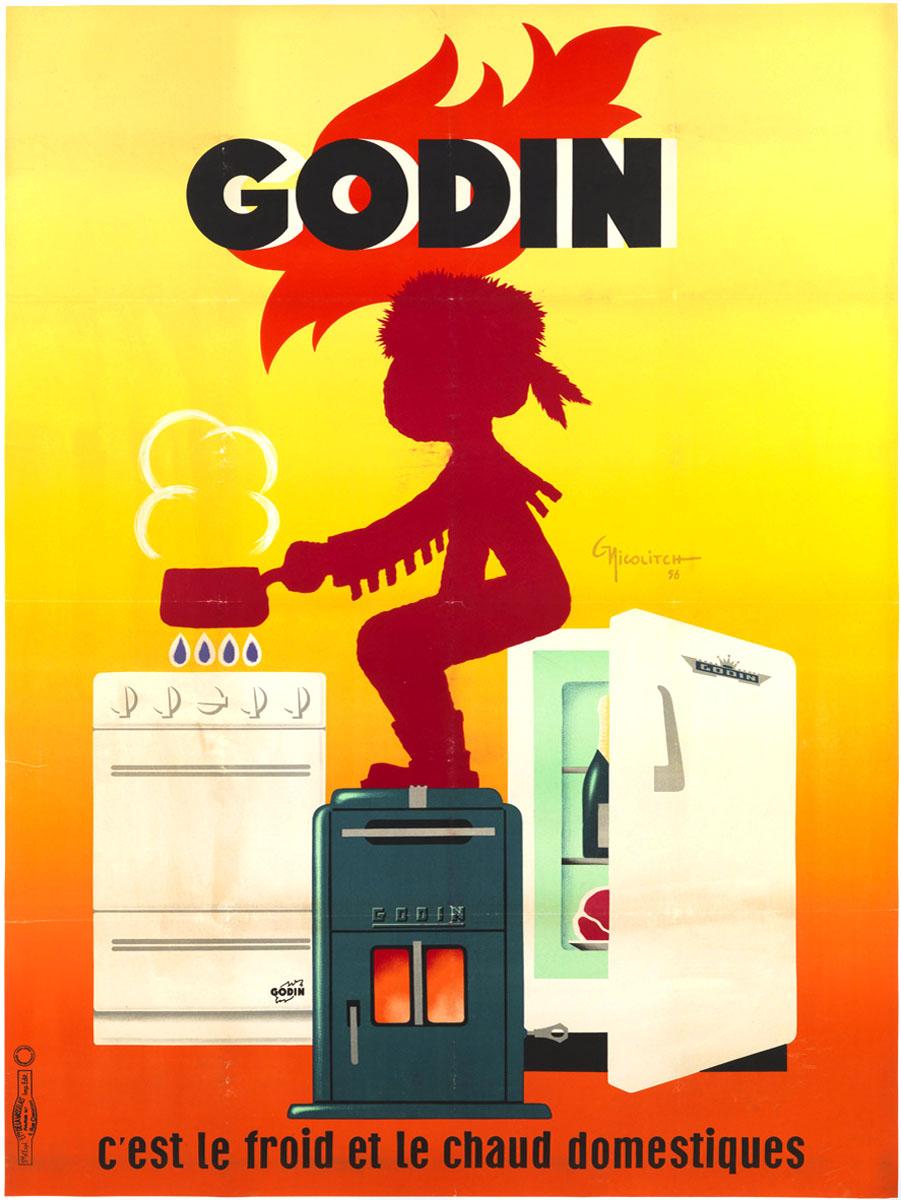 L'affiche montre un jeune trappeur, assis sur un réfrigérateur, les pieds sur un