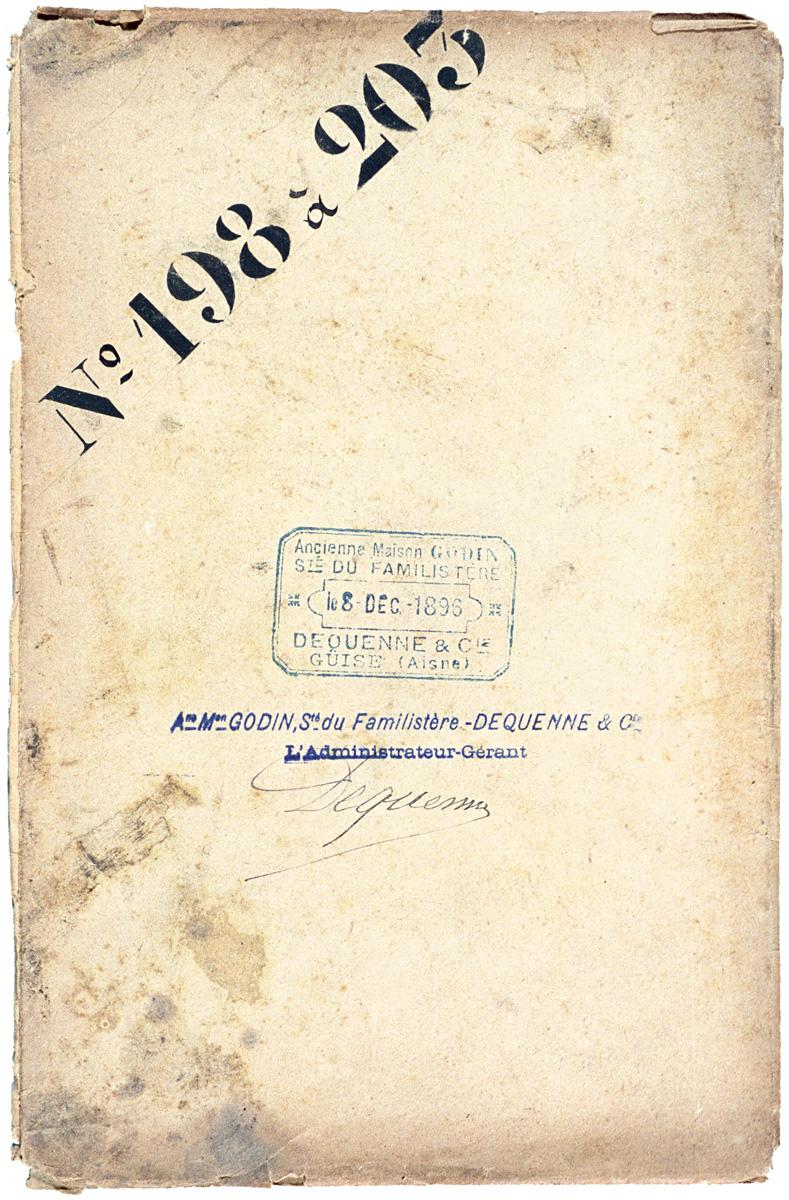L'enveloppe est datée du 8 décembre 1896 et porte la signature de l'administrate