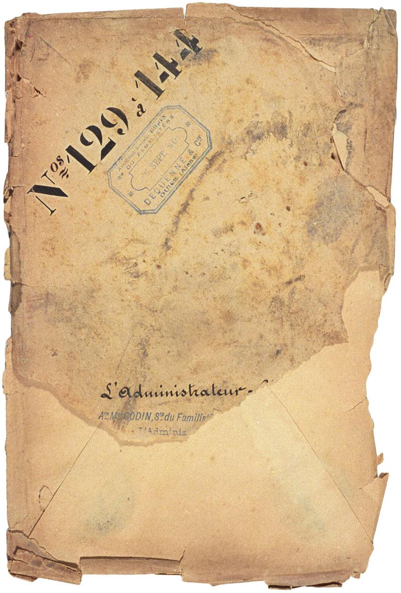 L'enveloppe est datée du 6 septembre 1890.