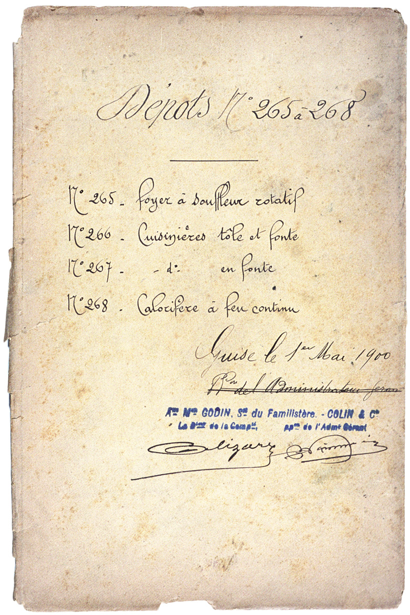 L'enveloppe porte la signature du déposant et la date du 1er mai 1909