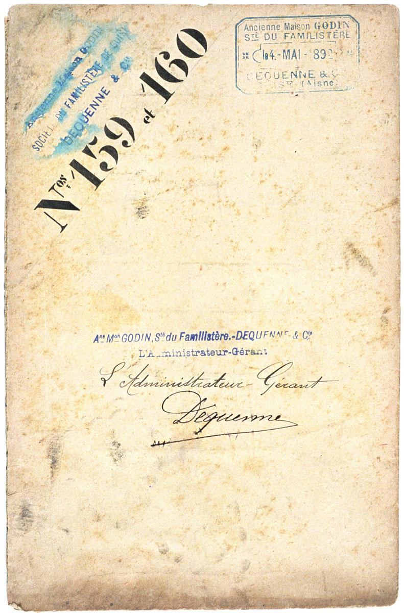 L'enveloppe porte la signature de l'administrateur-gérant de la Société du Famil