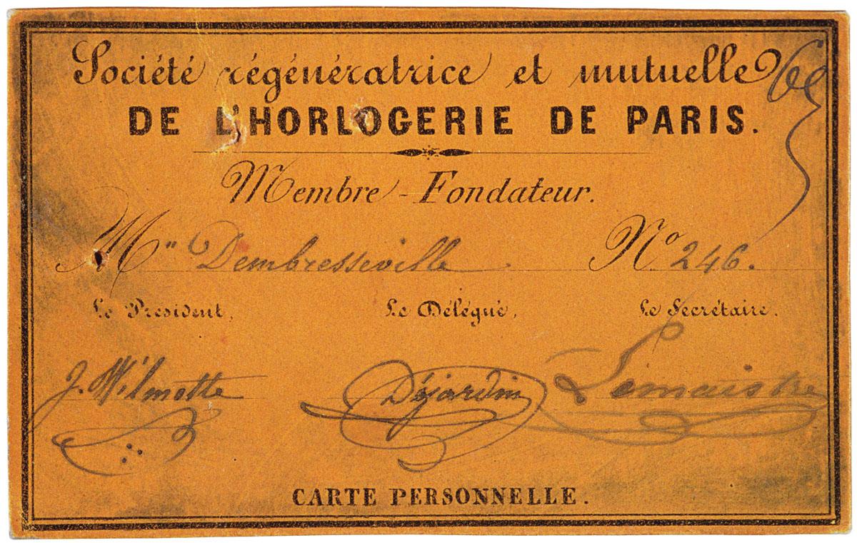 La carte est imprimée sur un carton orangé.