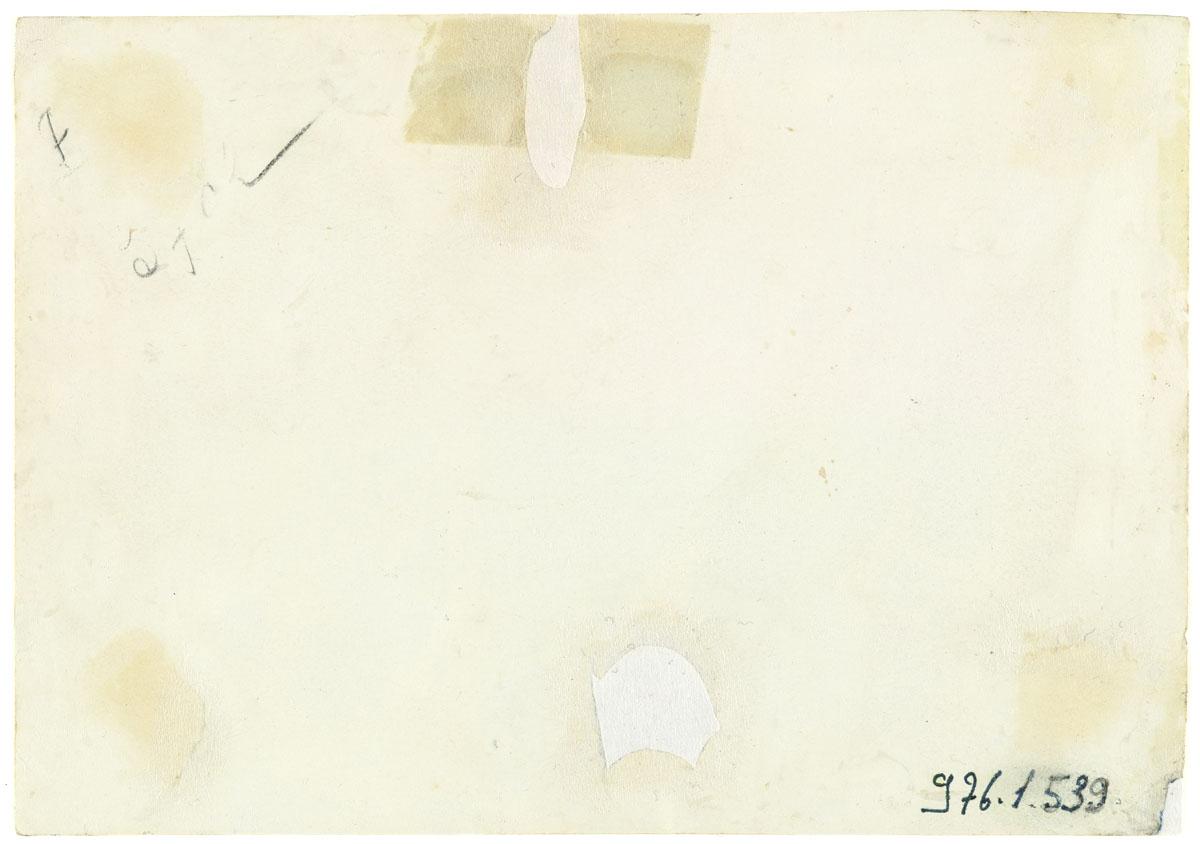 Verso de la photographie montrant l'intérieur de la buanderie du Familistère.