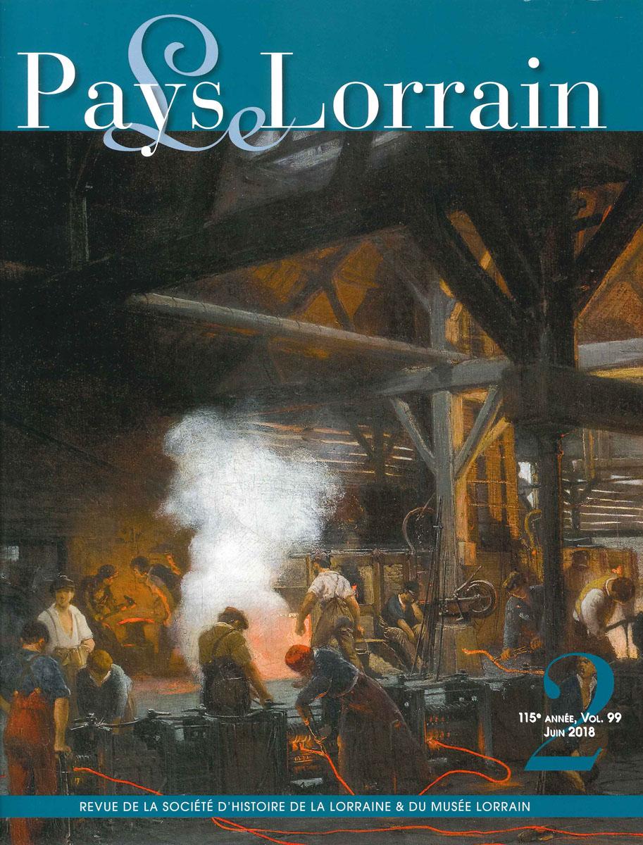 L'image présente la couverture du numéro de la revue Le Pays Lorrain de juin 201