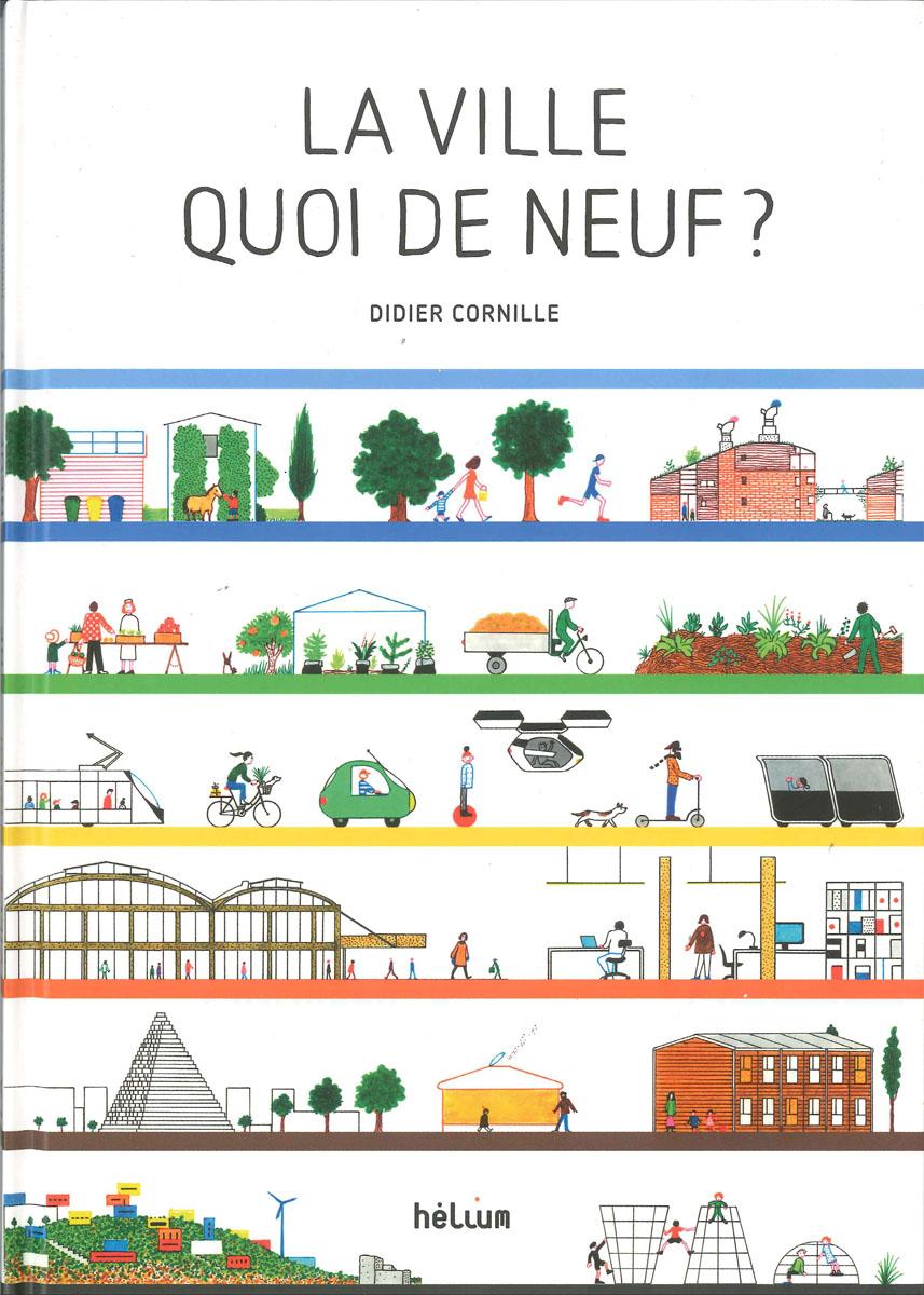 La couverture de l'album est illustrée de dessins de villes