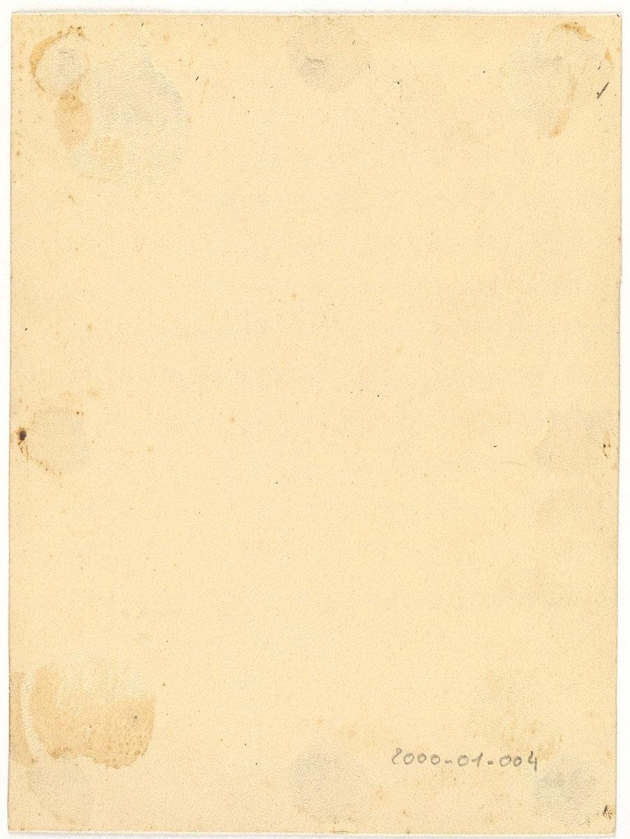Verso du carton de montage de la photographie du trophée de l'atelier du matérie