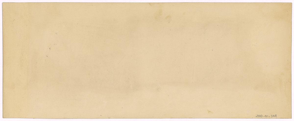 Verso du carton de montage des photographies du Palais social vu du nord.