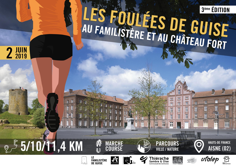 affiche de l'évènement réunissant une image du Familistère et une image du Châte