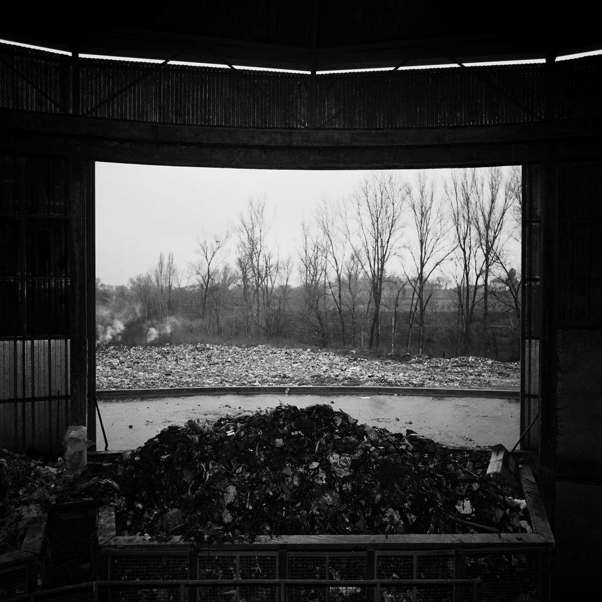 La photographie est la vue d'un centre de traitement de déchets.
