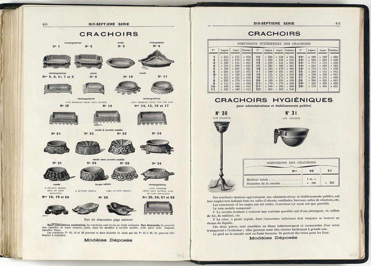 Vue d'une page de l'album de 1914 de la Société du Familistère montrant les crac