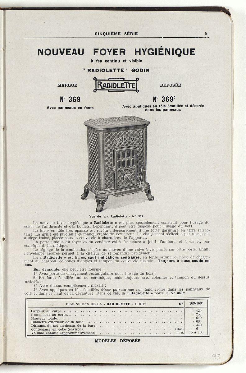 Page de l'album de 1925 de la Société du Familistère