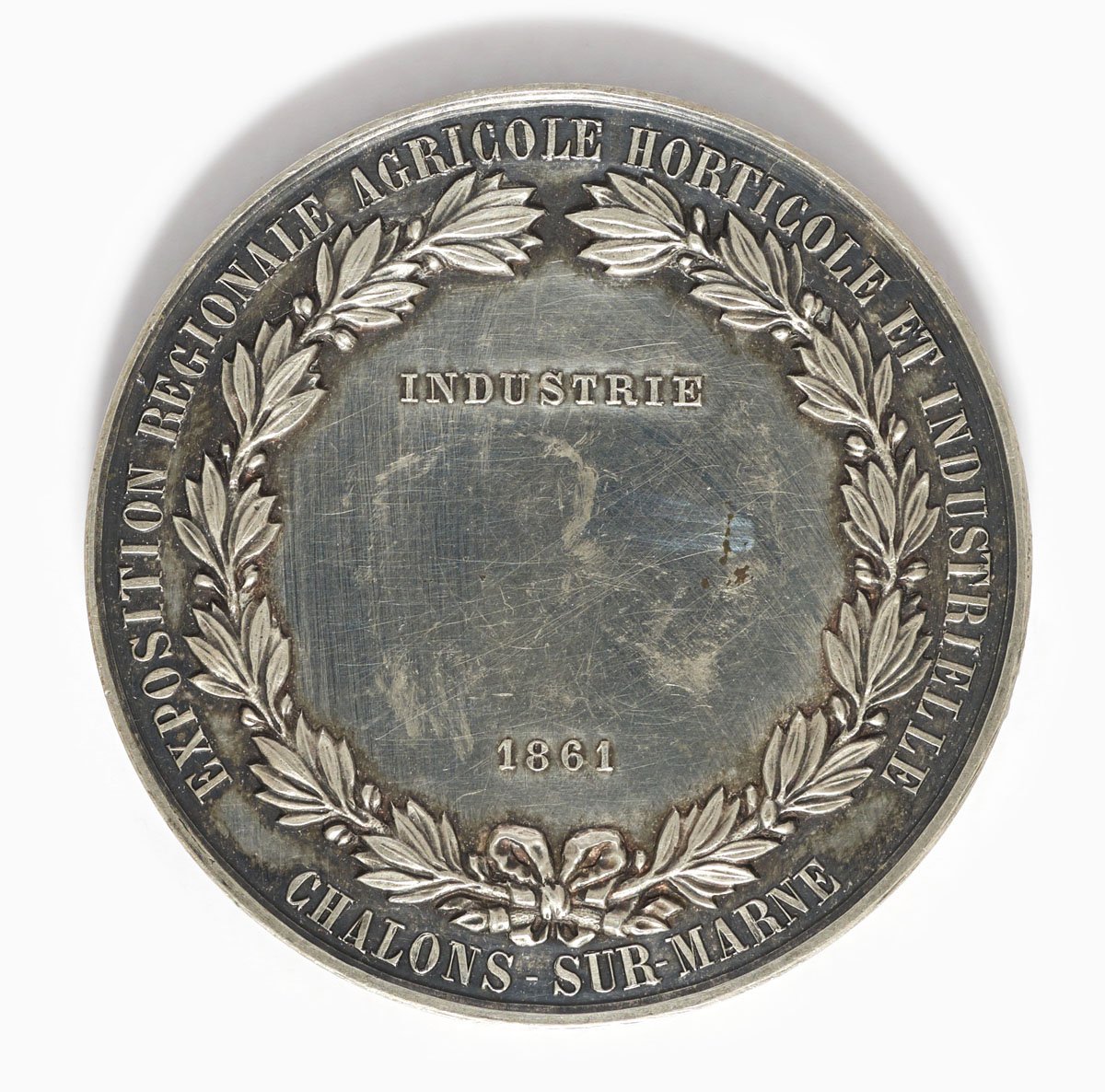 Photographie du revers de la médaille