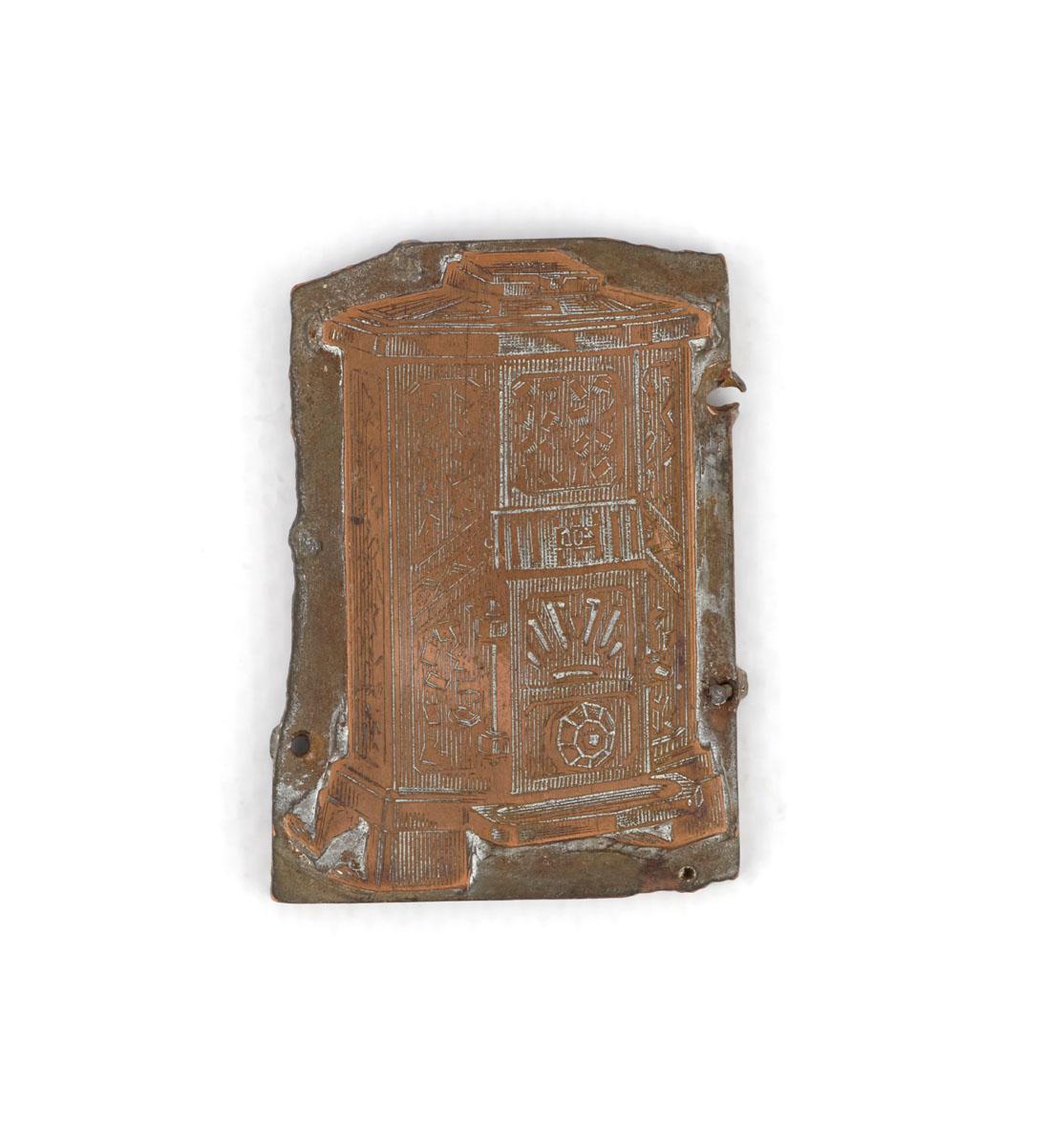 Vue de la gravure sur cuivre figurant le foyer hygiénique « Godinette » n° 400.