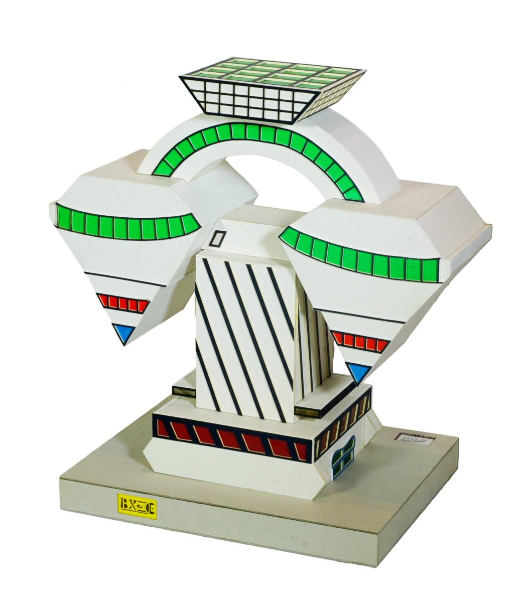 Vue d'une maquette d'immeuble