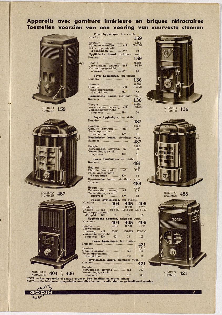 Vue de la page de la brochure de 1939 montrant le foyer n° 488