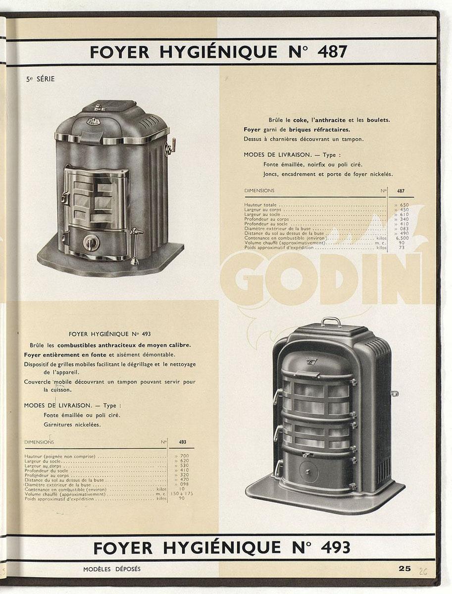Page de l'album de 1938 montrant un modèle comparable au foyer n° 488