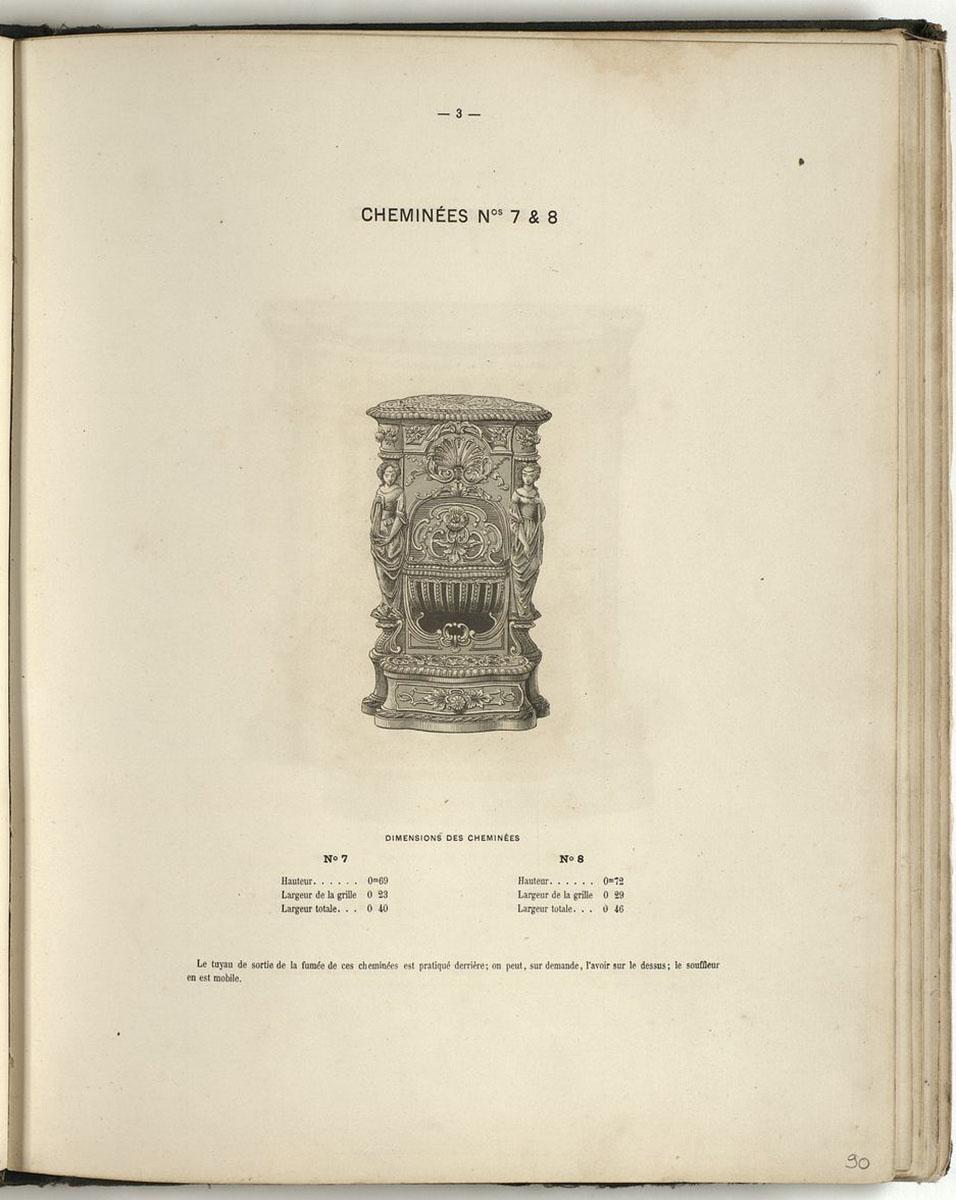 Vue de la page de l'album de 1867 montrant la cheminée n° 7-8