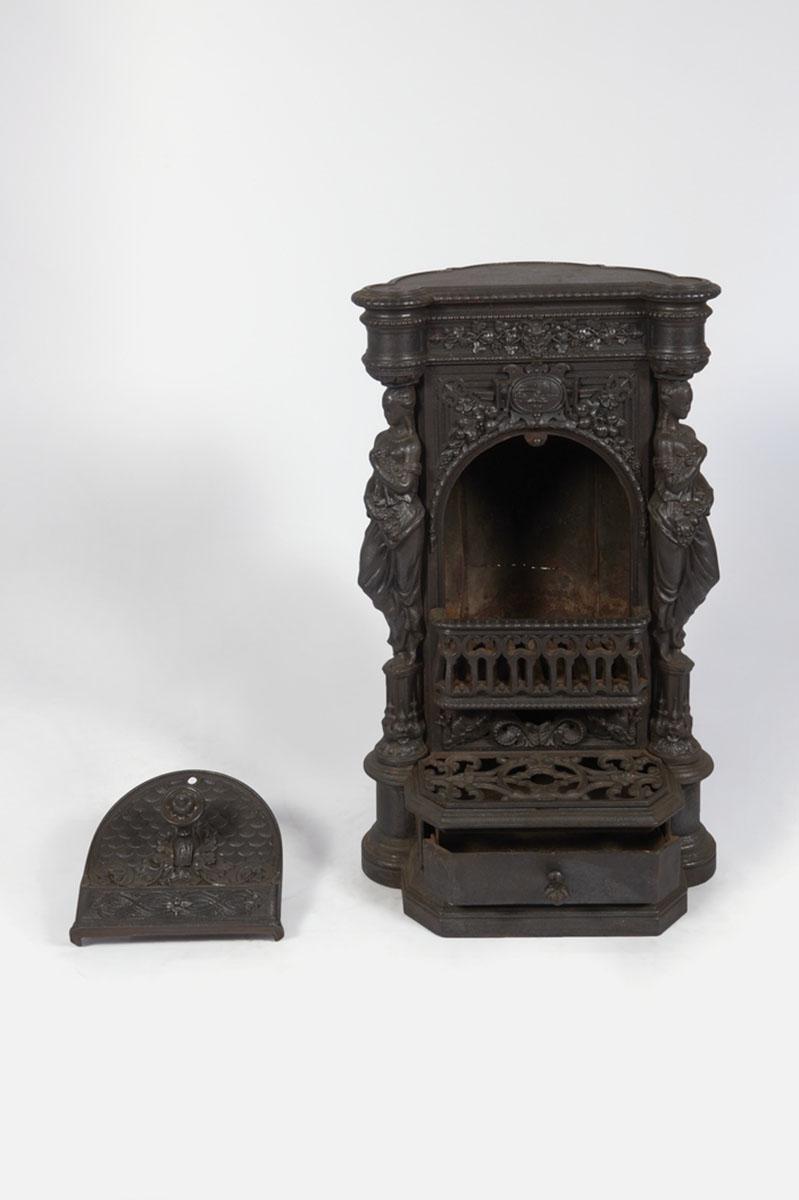 Vue du poêle-cheminée Colas n° 1 sans souffleur