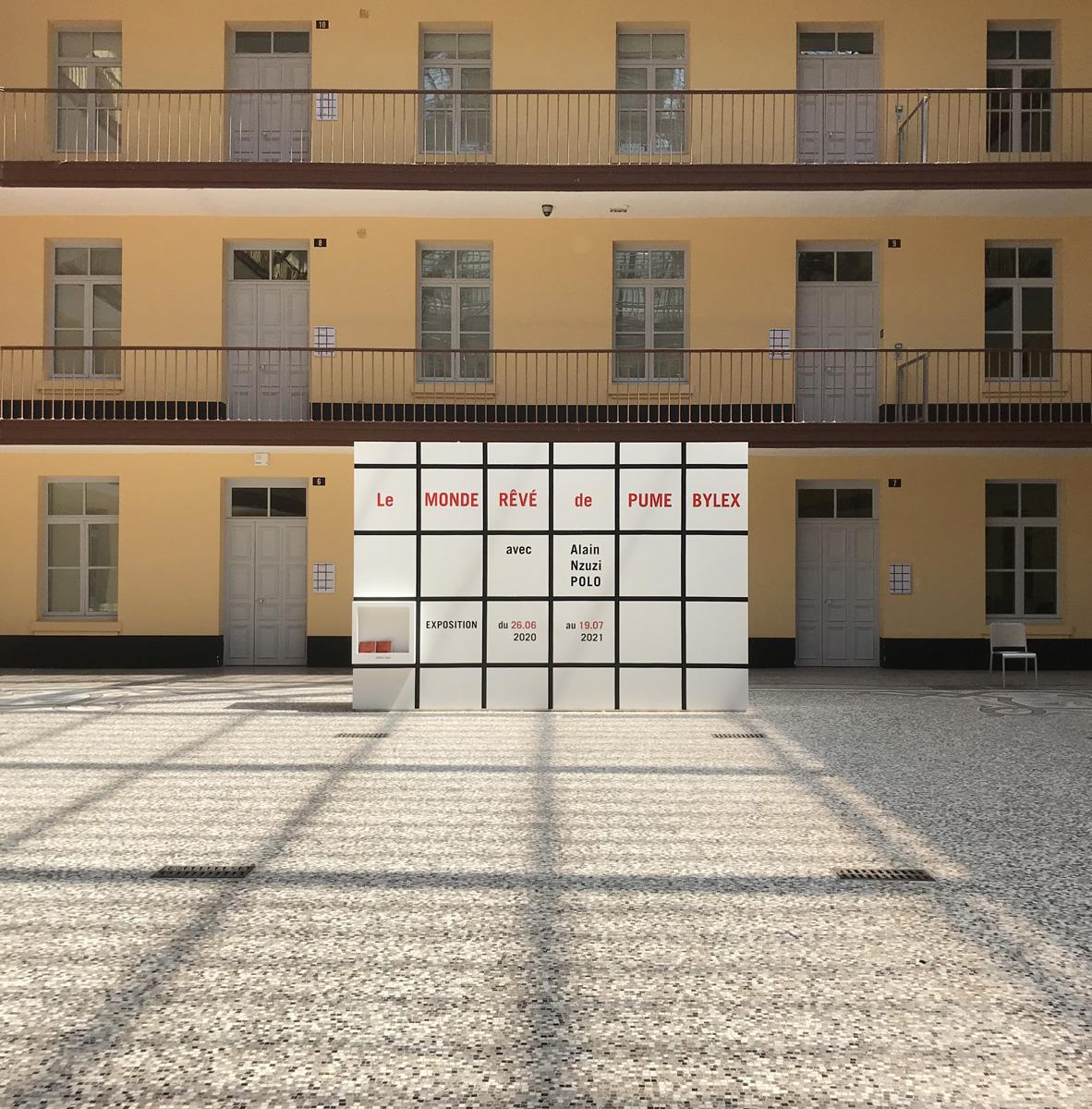 Vue de l'exposition « Le monde rêvé de Pume Bylex, avec Alain Nzuzi Polo »