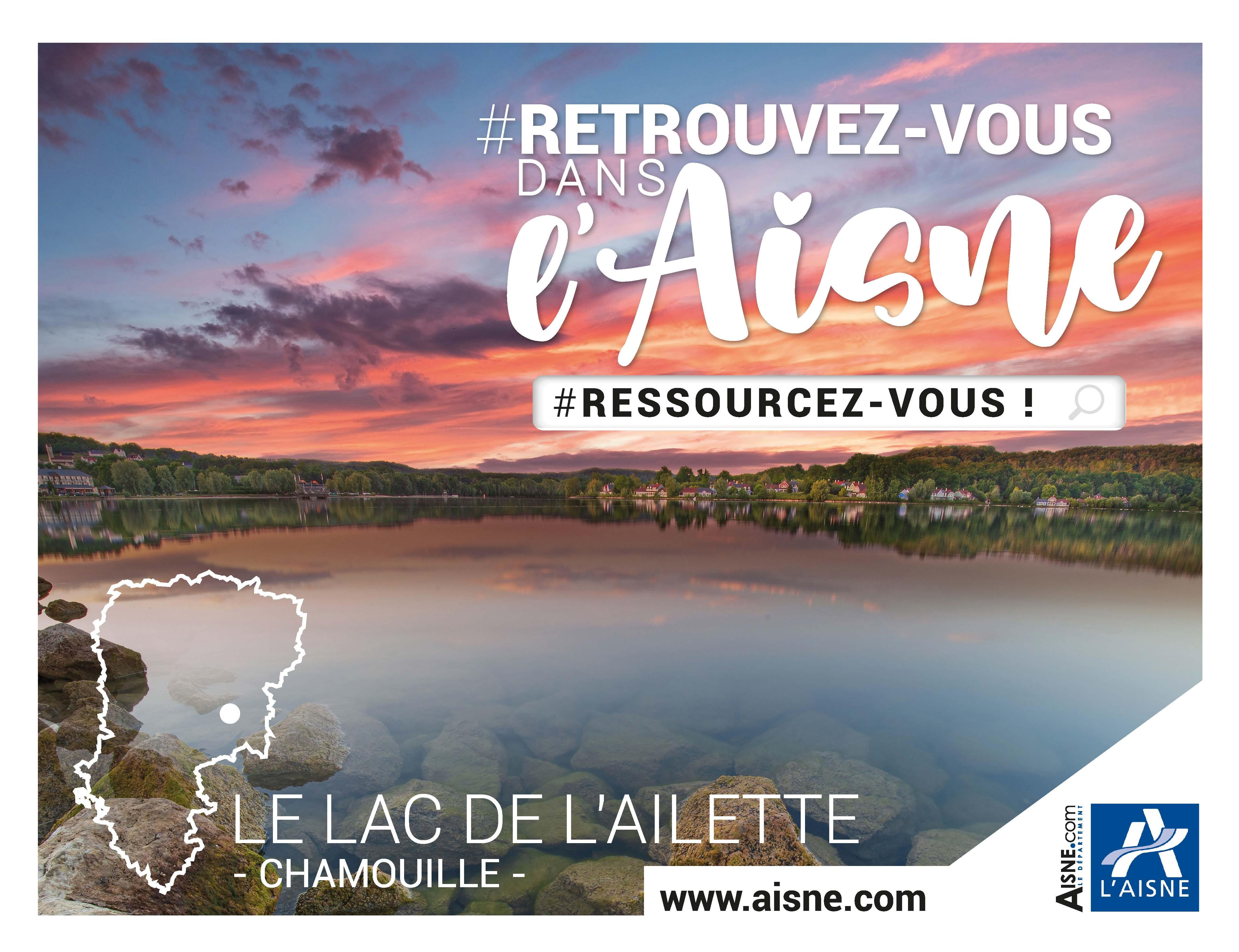 Le lac de l'Ailette à Chamouille dans l'Aisne
