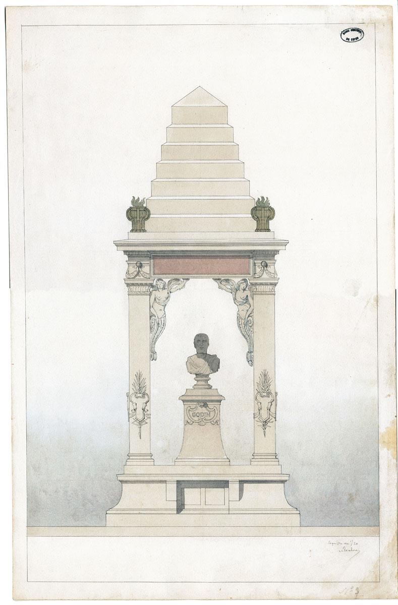 Dessin d'un monument